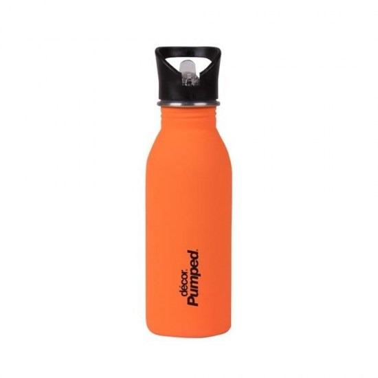 Ανοξείδωτο μπουκάλι Decor με καλαμάκι- ΠΟΡΤΟΚΑΛΙ