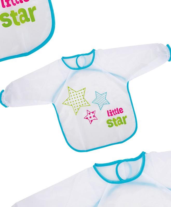 Σαλιάρα πλαστική, με μανίκια - Fashy Little Stars