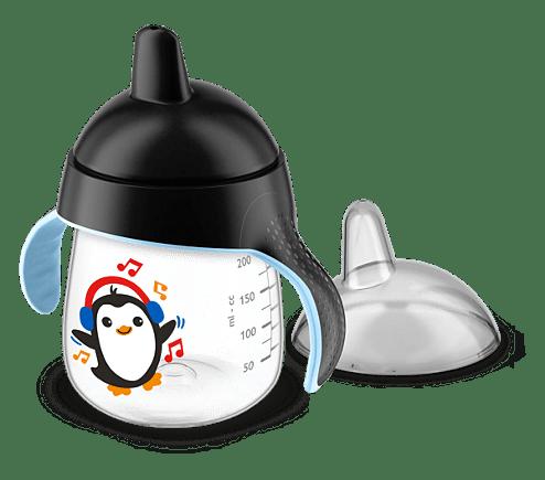 Ποτηράκι με λαβές - 260ml - 12m+ - Philips Avent - Μαύρο