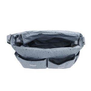 Τσάντα αλλαξιέρα Leaf petrol – My bag's