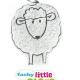 Θερμοφόρα με κουκούτσια Προβατάκι – Fashy Little Stars