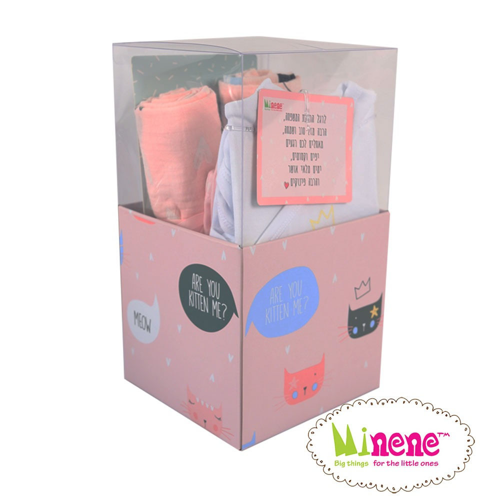 Square gift box kitten - Minene3