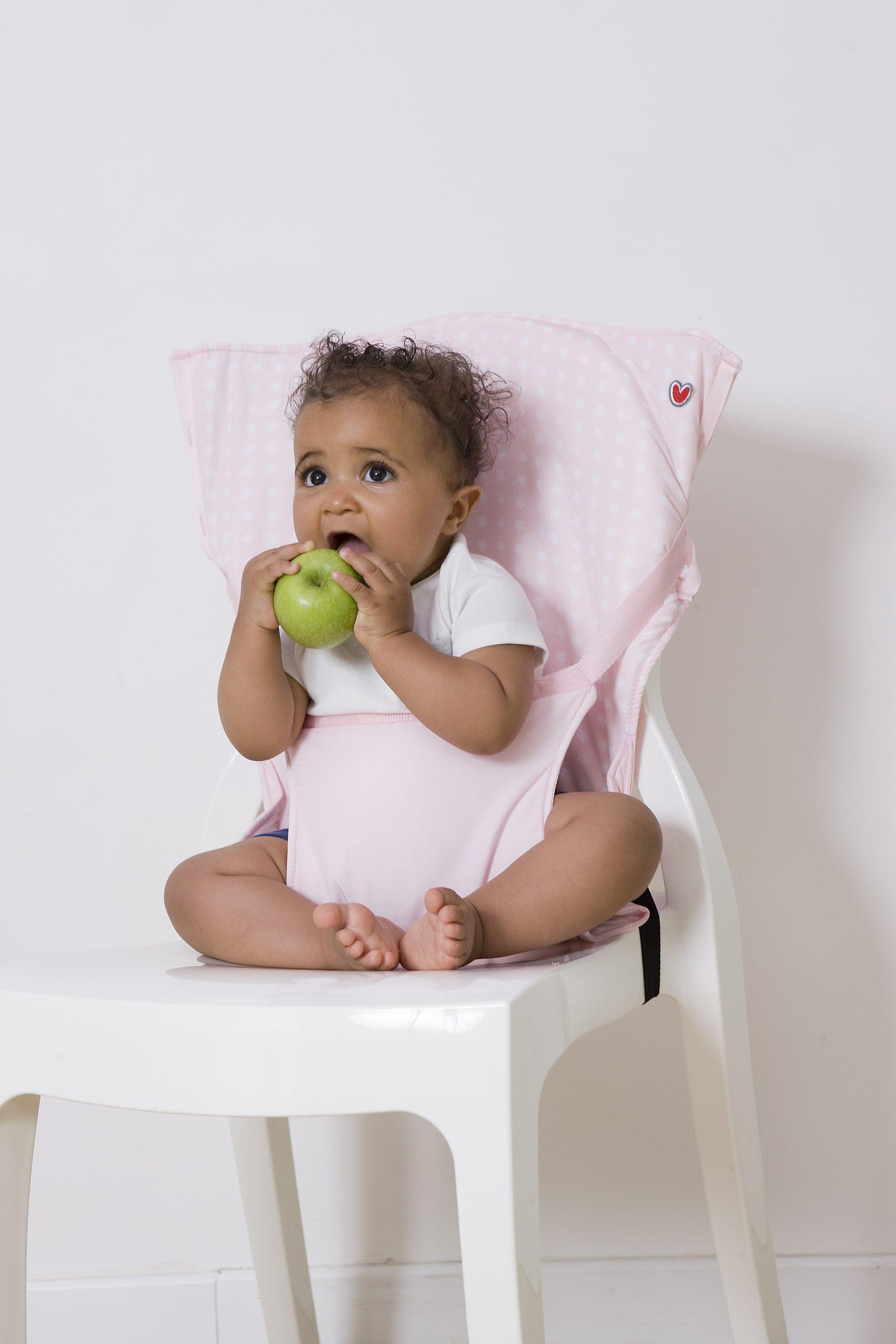 pocket chair ροζ αστεράκια2