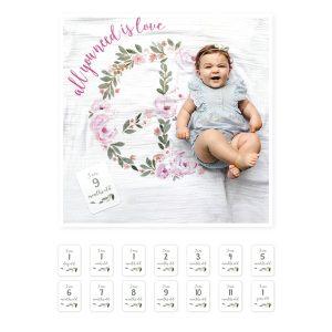 Σετ δώρου για νεογέννητο, με milestones – Lulujo