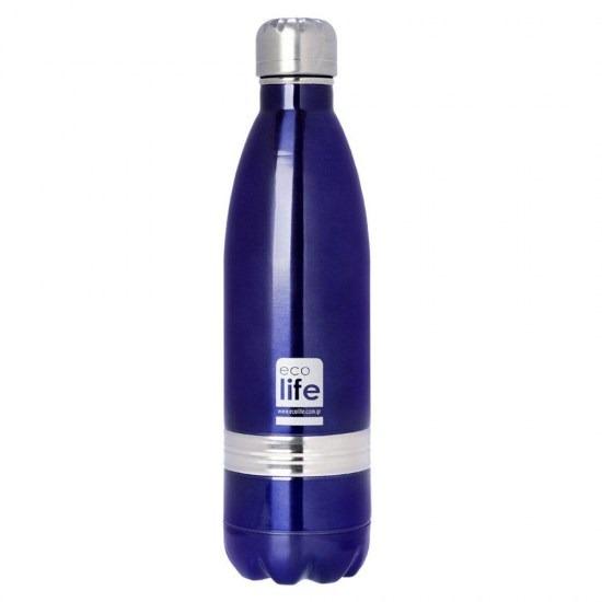 Μπουκάλι - θερμός ανοξείδωτο, 750ml - Ecolife- Μπλε