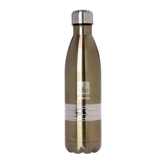 Μπουκάλι - θερμός ανοξείδωτο, 750ml - Ecolife- Bronze