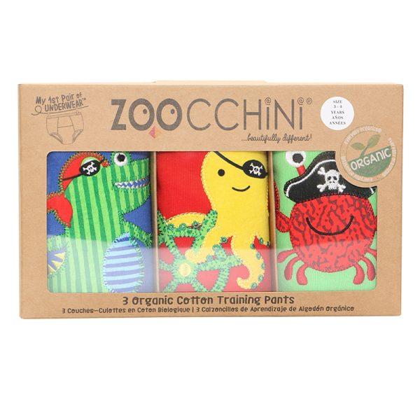 Εκπαιδευτικά βρακάκια zoocchini - πειρατές
