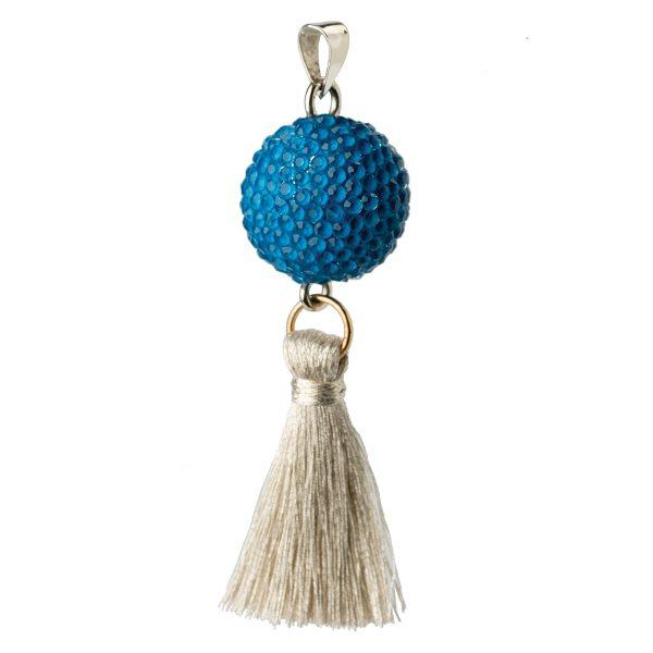 Μουσικό μενταγιόν εγκυμοσύνης Bola - μπλε μπάλα με φούντα