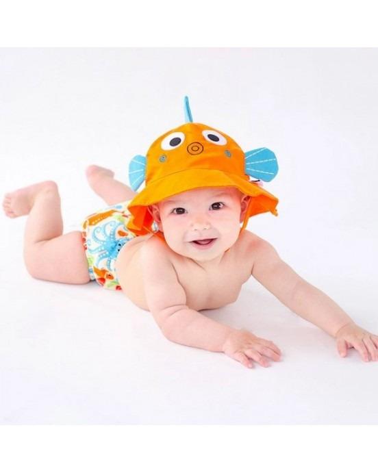 Σετ Μαγιό και Καπέλο UPF50+ - Zoocchini - Ψαράκι