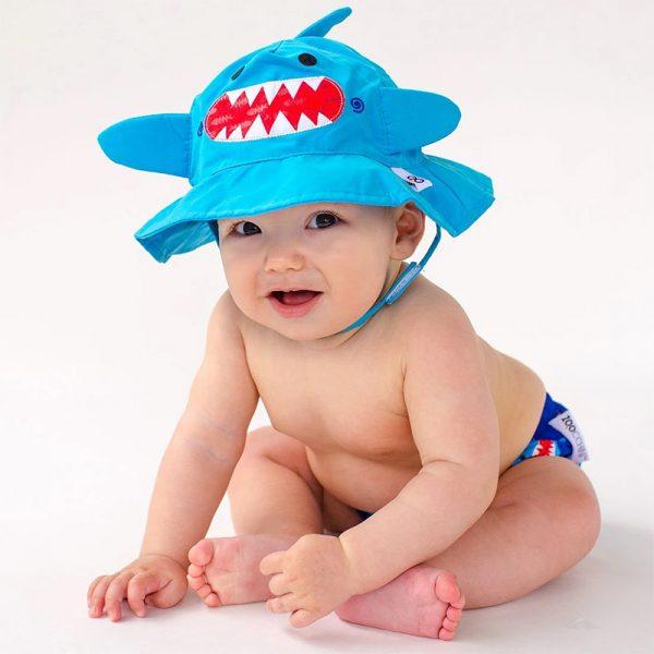 Σετ Μαγιό και Καπέλο UPF50+ - Zoocchini - Καρχαρίας