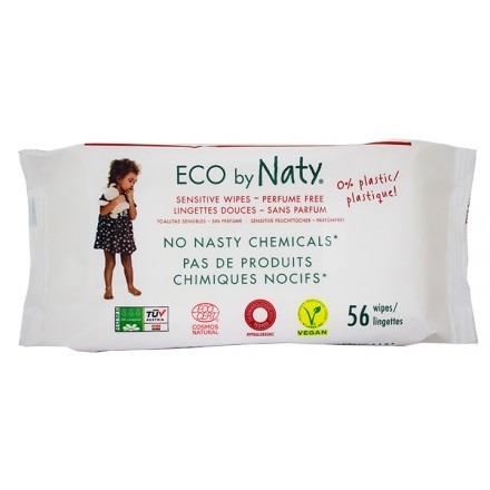 Μωρομάντηλα οικολογικά, χωρίς άρωμα (56τμχ) - Naty