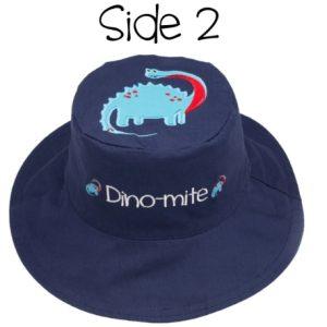 Καπέλο διπλής όψης, αντηλιακό UPF 50+, Dinos – FlapJackKids