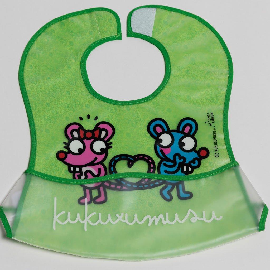 Σαλιάρα πλαστική, με τσέπη - Kukuxumusu-Ποντικάκια