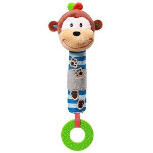 Μαλακό παιχνίδι μη ήχο και μασητικό, μαϊμουδάκι – Babyono