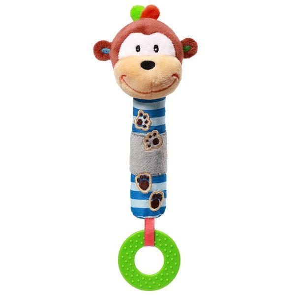 Μαλακό παιχνίδι μη ήχο και μασητικό, μαϊμουδάκι - Babyono