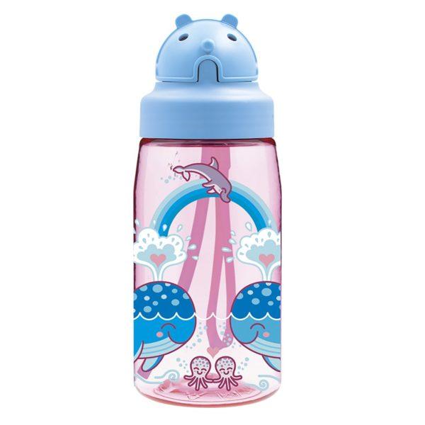 Παγούρι Tritan 450 ml με πώμα OBY Laken φάλαινες