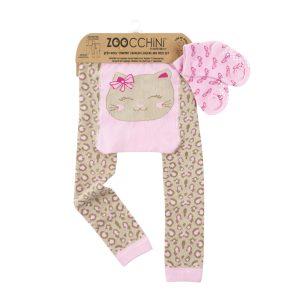 Σετ κολάν για μπουσούλημα και καλτσάκια, γατάκι – Zoocchini