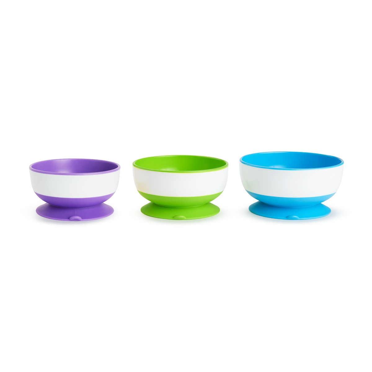 Μπολάκι Χ 3, με βεντούζα, Stay-put suction bowls - Munchkin