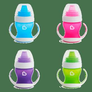 Εκπαιδευτικό ποτηράκι με στόμιο και λαβές, Gentle first cup 120ml – Munchkin