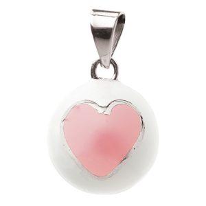 Μουσικό μενταγιόν εγκυμοσύνης Bola – Λευκό με ροζ καρδιά