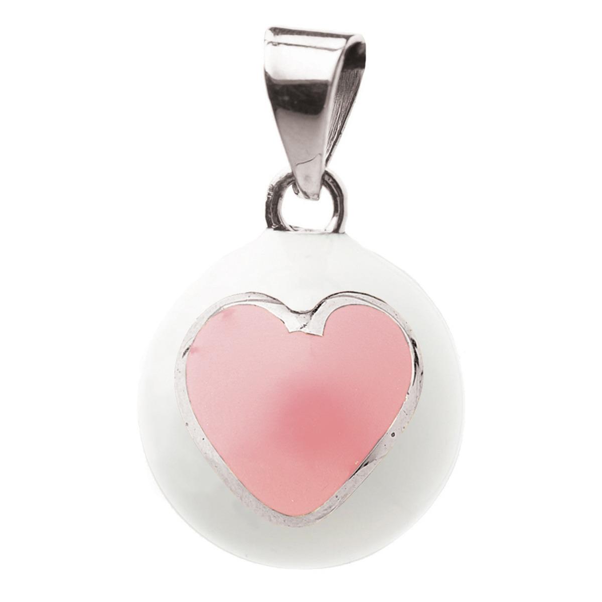 Μουσικό μενταγιόν εγκυμοσύνης Bola - Λευκό με ροζ καρδιά