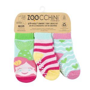 Καλτσάκια Grip+Easy, 0-2 ετών, σετ Χ 3 – Zoochini