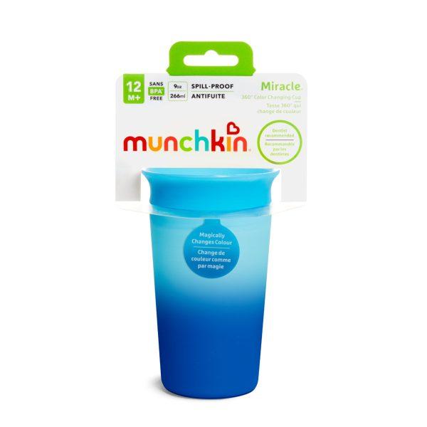 Ποτήρι 360ο, Colour changing Miracle cup - Munchkin - Γαλάζιο