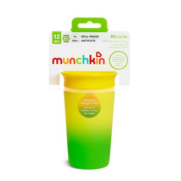 Ποτήρι 360ο, Colour changing Miracle cup - Munchkin - Κίτρινο