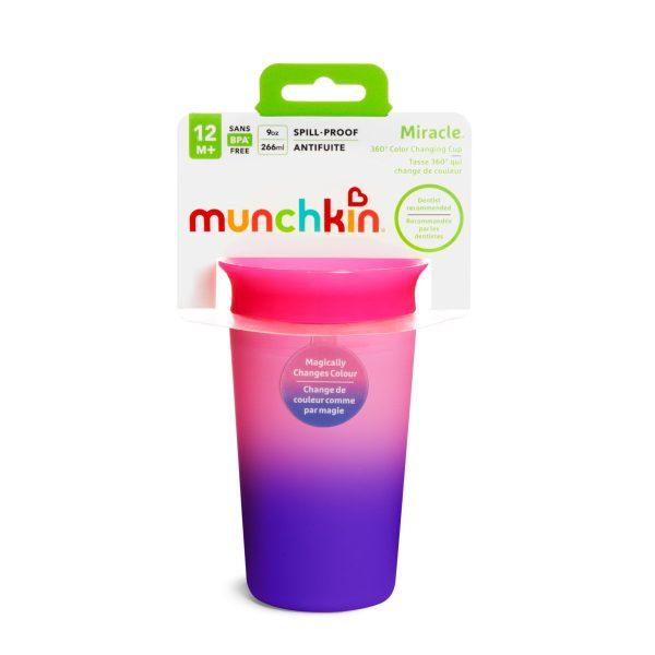 Ποτήρι 360ο, Colour changing Miracle cup - Munchkin - Μωβ