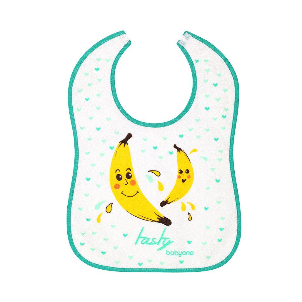 Σαλιάρα αδιάβροχη, 9+μηνών - BabyOno-Μπανάνες