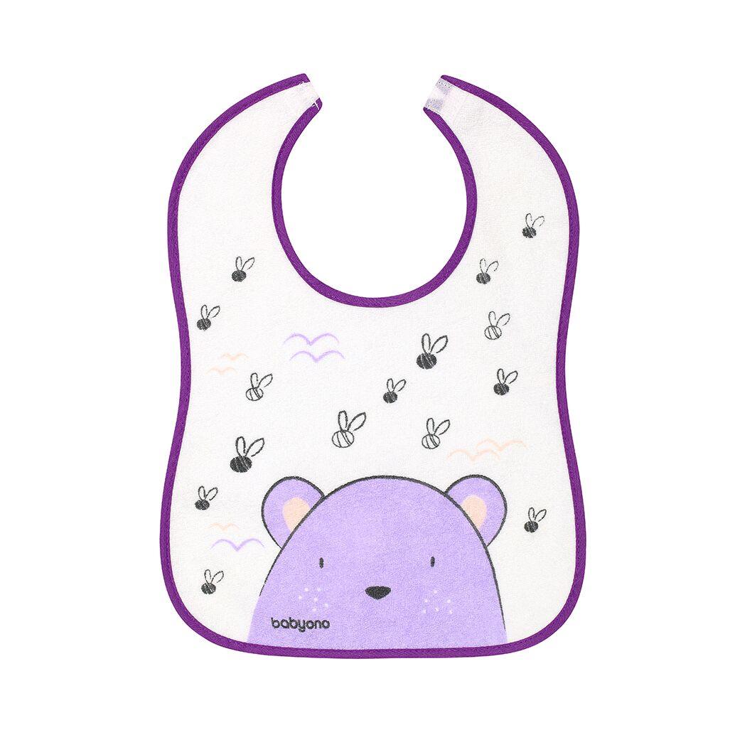 Σαλιάρα αδιάβροχη, 9+μηνών - BabyOno-Αρκουδάκι