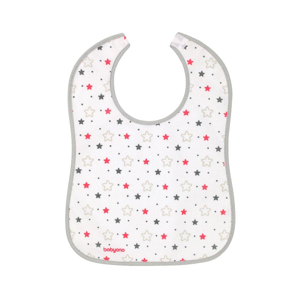 Σαλιάρα αδιάβροχη, 9+μηνών - BabyOno-Αστεράκια