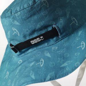 Καπέλο δύο όψεων, με αντηλιακή προστασία UV50, Swimming pool – KiETLA