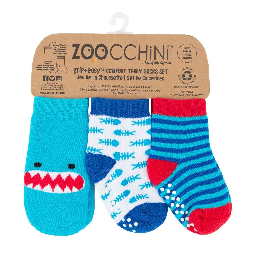 Grip+easy καλτσάκια-Zoocchini-Καρχαρίας