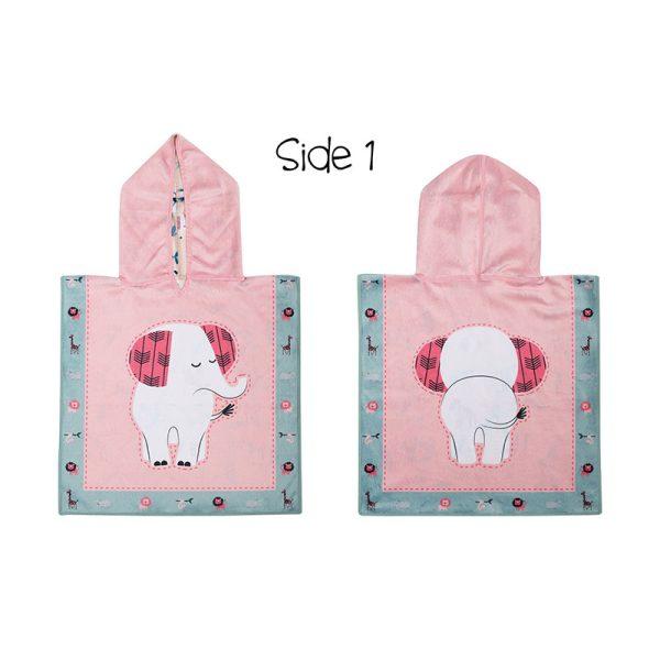 Πόντσο baby, διπλής όψεως, SPF50+ - FlapJackKids-Elephant