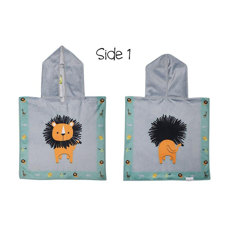 Πόντσο baby, διπλής όψεως, SPF50+ - FlapJackKids-Lion