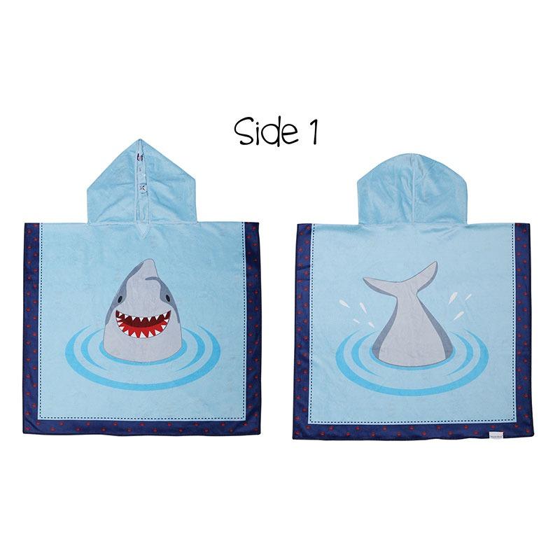 Πόντσο διπλής όψης, SPF50+ - FlapJackKids-Καρχαρίας