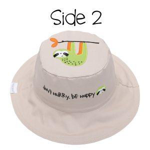 Καπέλο διπλής όψης, αντηλιακό UPF 50+, Lion/Sloth – FlapJackKids