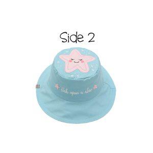 Καπέλο διπλής όψης, αντηλιακό UPF 50+, Narwhal/Starfish – FlapJackKids