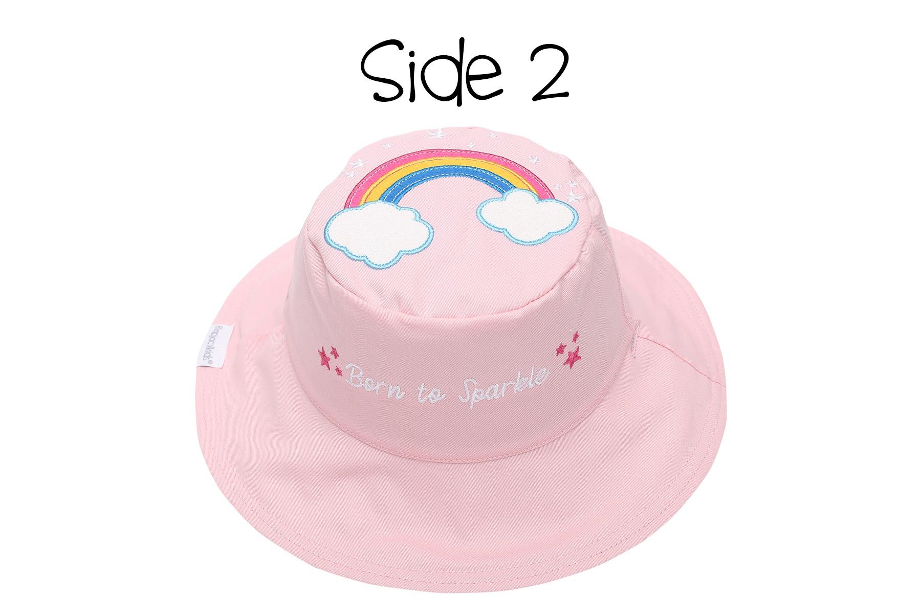 Καπέλο διπλής όψης, αντηλιακό UPF 50+, Unicorn/Rainbow - FlapJackKids