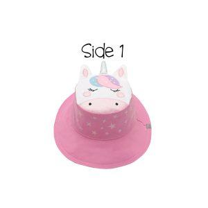 Καπέλο διπλής όψης, αντηλιακό UPF 50+, Unicorn/Star – FlapJackKids