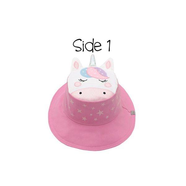 Καπέλο διπλής όψης, αντηλιακό UPF 50+, Unicorn/Star - FlapJackKids