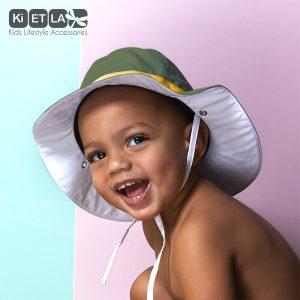 Καπέλο δύο όψεων, με αντηλιακή προστασία UV50, Χακί – KiETLA