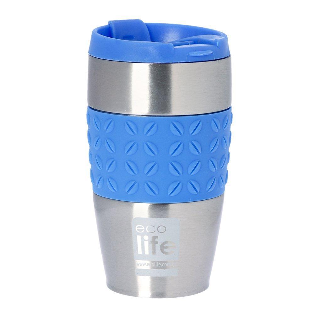 Θερμός για καφέ, ανοξείδωτο, 400ml - Ecolife - Γαλάζιο