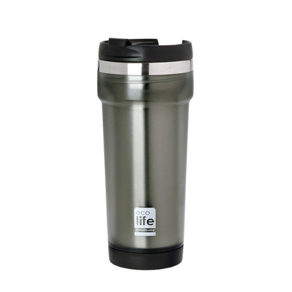 Θερμός για καφέ, 420ml, Ecolife - Γκρι