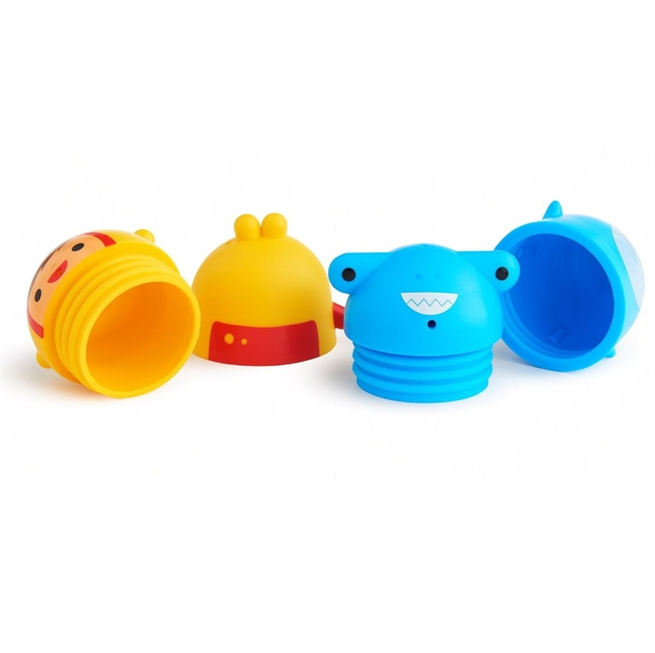 Παιχνίδι μπάνιου Χ 2, easy clean squirts - Munchkin, πιγκουίνος-ελέφαντας