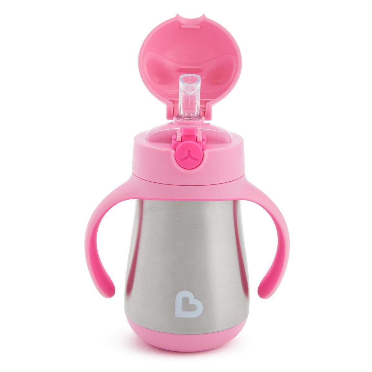 Μπουκάλι- θερμός, 237ml, - Cool Cat, Munchkin - Ροζ