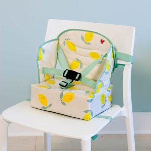 Φορητό καθισματάκι φαγητού, booster Easy Up - Baby To Love - Happy lemon