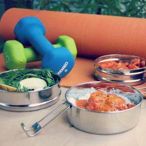 Φαγητοδοχείο ανοξείδωτο 3 σε 1 – Ecolunchbox Tri-Bento