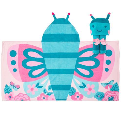 Πετσέτα με κουκούλα - Stephen Joseph - Butterfly